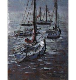 Eliassen 3D-Malerei 75x100cm Segelboote