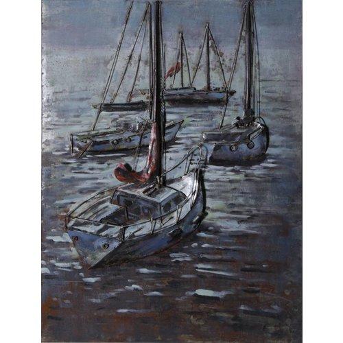 Eliassen 3D schilderij 75x100cm Zeilboten