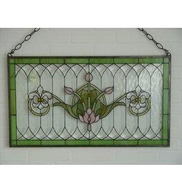 Eliassen Stained glass window French lilies 50x88cm