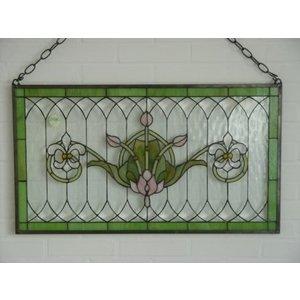 Eliassen Glas in lood raam Franse lelies 50x88cm
