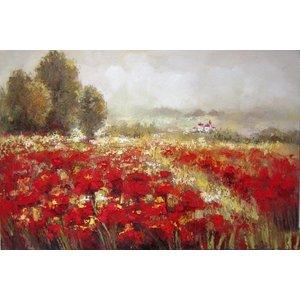 Eliassen Oil painting Bloemenveld 160x84cm