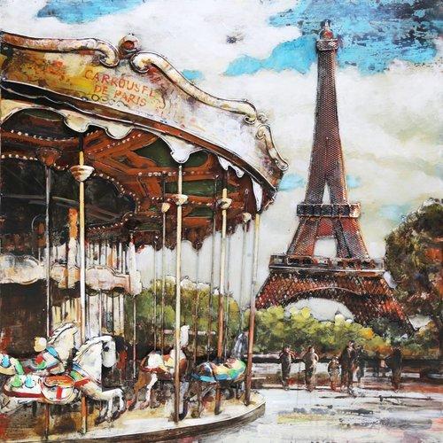 Eliassen Metal 3d painting 100x100cm Merry-go-round