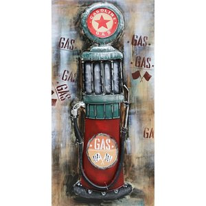 Metal painting 3d 60x120cm Red Star pump