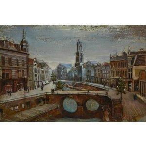 Eliassen Painting metal 3d 80x120cm Old canal Utrecht