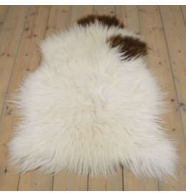 Sheepskin Icelandic brown fur