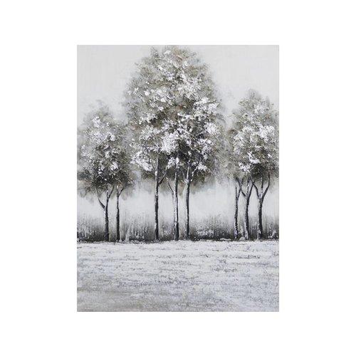 Canvas schilderij 60 x 80 cm 3 bomen