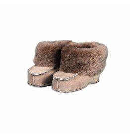 Baby shoe sheepskin light brown