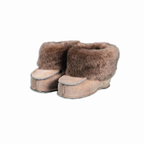 Baby shoe sheepskin light brown
