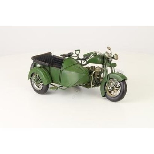 Eliassen Miniature model Motor with sidecar