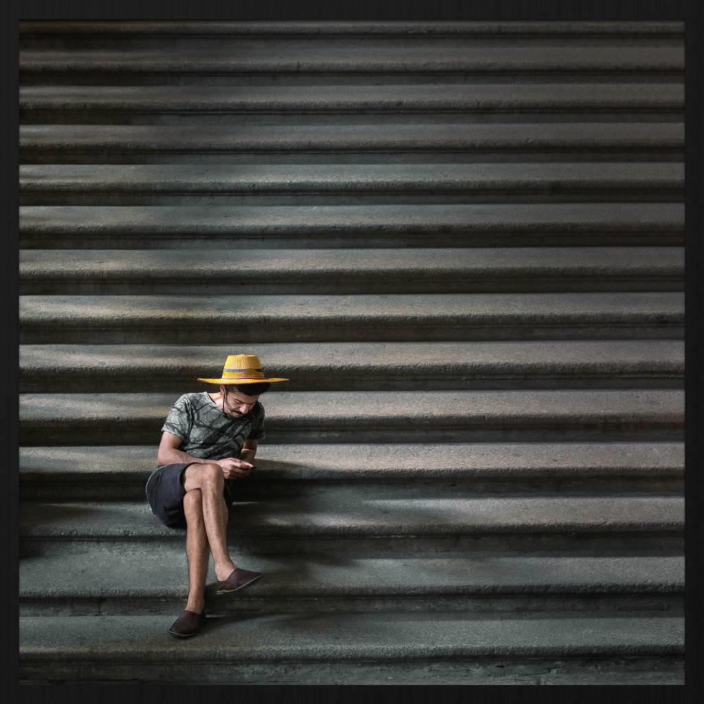 Wandkraft Malen Forex Auf der Treppe 74x74cm
