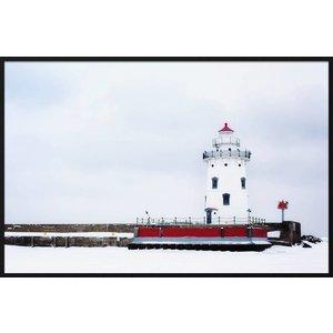 Wandkraft Malerei Forex Leuchtturm 148x98cm