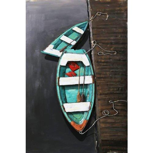 Lackierung von 3D Metall Ruderbooten 80x120cm