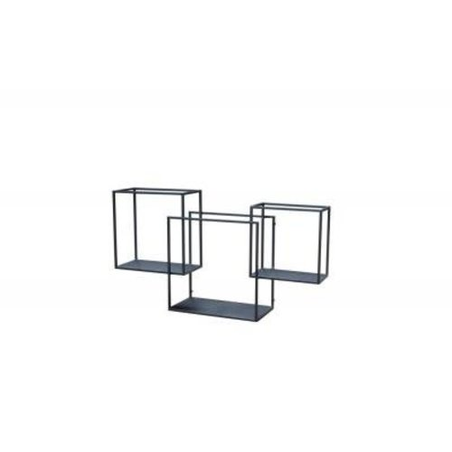 Large modern 3-part wall rack