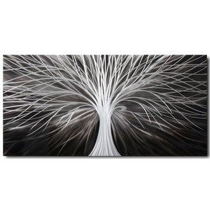 Schilderij aluminium  Strepen  60x120cm
