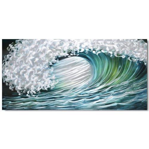 Malerei Aluminium Welle 80x160cm