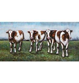 Eliassen Malerei Metall 3d 60x120cm 4 Kühe