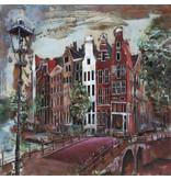 Malerei 3D Metall Herengracht 100x100cm
