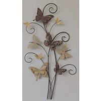 Wall decoration 3d Branch with 9 butterflies