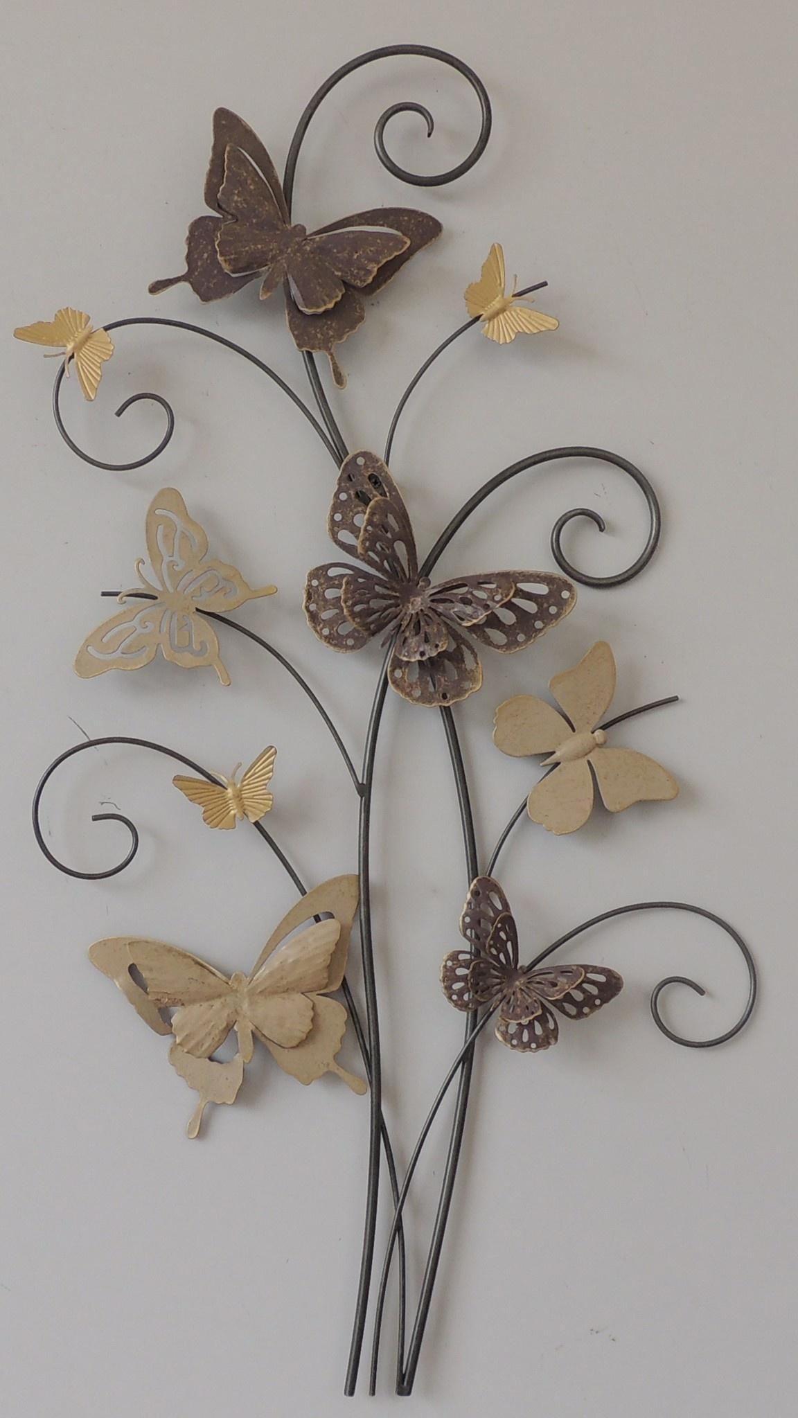 Wanddekoration 3d Branch mit 9 Schmetterlingen