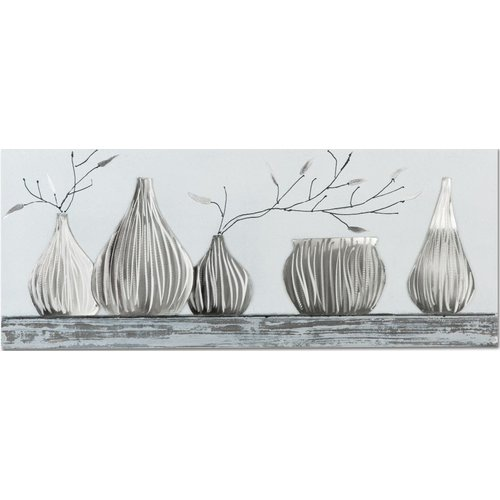 Ölgemälde 100x40cm 5 Vasen