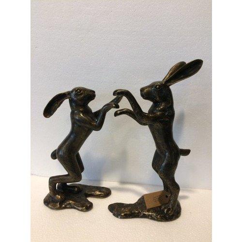 Bronze Set von Hasen
