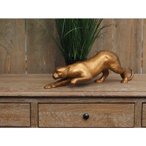 Bronzen luipaard