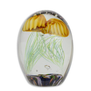 Glass statue, Murano-style double jellyfish