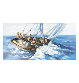 Metallmalerei 3D 60x120cm Segelboot