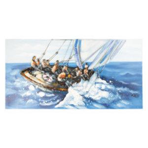 Metalen schilderij 3D 60x120cm Zeilboot