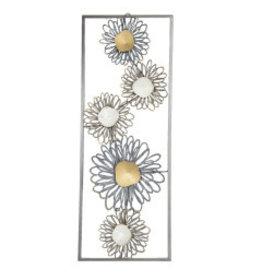 Wanddecoratie 30x75cm Bloemen
