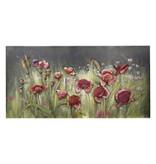 3d schilderij metaal 60x120cm Bloemen