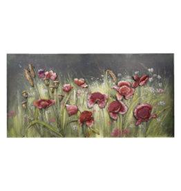 3d malerei metall 60x120cm Blumen