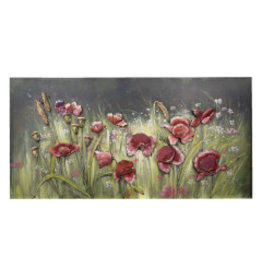 3d painting metal 60x120cm Flowers