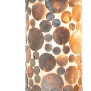 Tischlampe 40cm Münze Gold