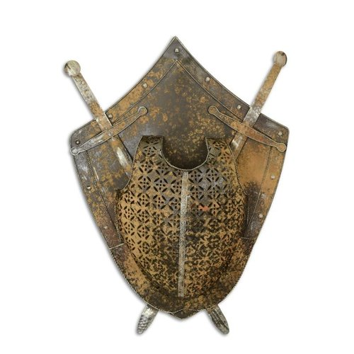 wall decoration shield with swords 1