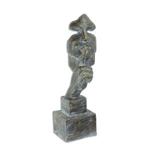 Skulptur Stiller Mann
