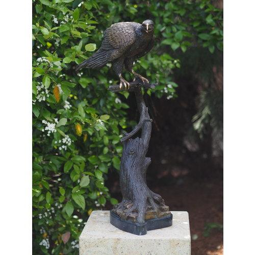 Eliassen Beeld brons valk op tak