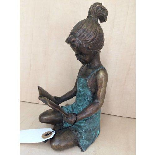 Eliassen Beeld brons meisje met boek klein