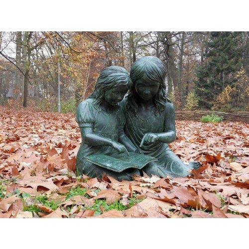 Eliassen Beeld brons lezende meisjes