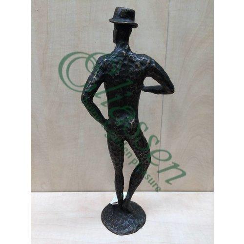 Eliassen Beeld brons man modern