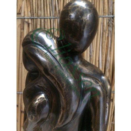 Bronzen omhelzing