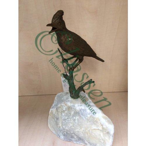 Eliassen Beeld brons vogel op tak 2