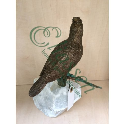Eliassen Image bronze bird on branch 2
