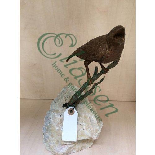Eliassen Image bronze bird on branch