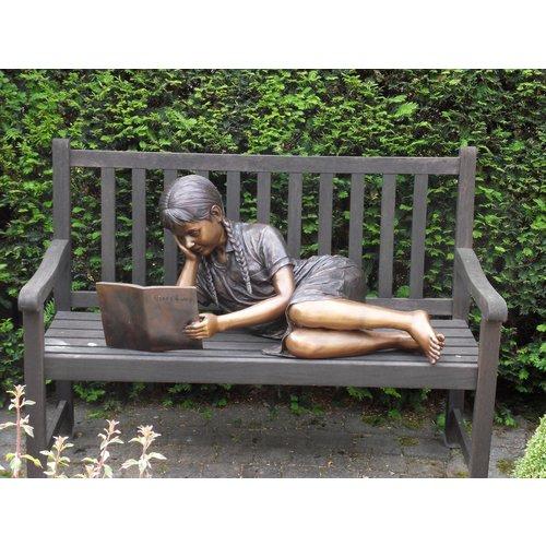 Eliassen Beeld brons liggend lezend meisje
