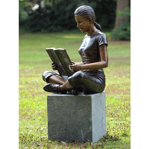 Eliassen Beeld brons meisje met boek