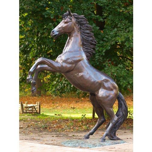 Eliassen Beeld brons groot steigerend paard