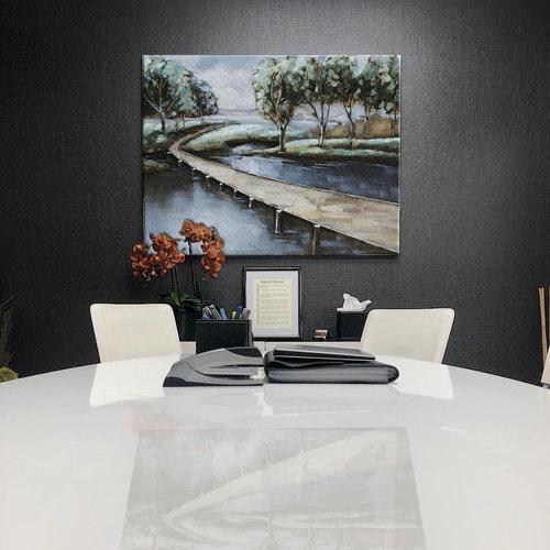 Eliassen 3D Malerei Metall 80x120cm Wasser und Land