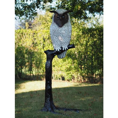 Eliassen Beeld brons uil op tak groot