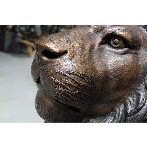 Eliassen Beelden brons staand leeuwenpaar